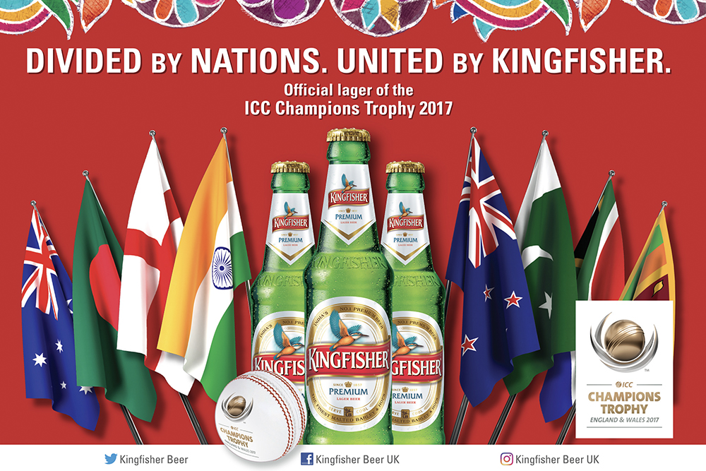 Kingfisher appointed official lager partner for ICC Champions Trophy 2017