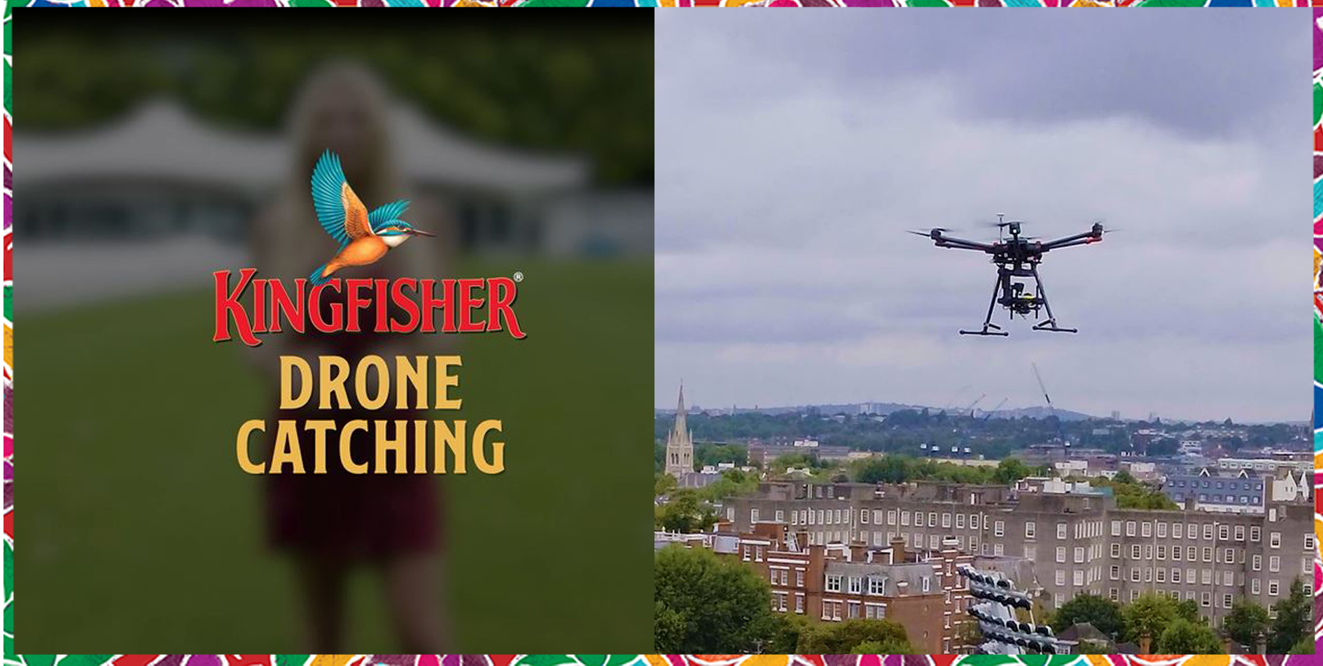 The Drone Catch World Record broken by Kingfisher Beer